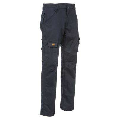 Flame Resistant Men's 44 in. W x 30 in. L Navy Cotton/Nylon FR Cargo Work Pant