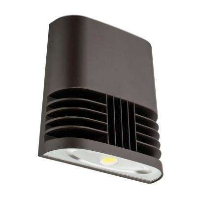 Dark Bronze 40-Watt 4000K Cool White Outdoor Low-Profile LED Wall Pack Light
