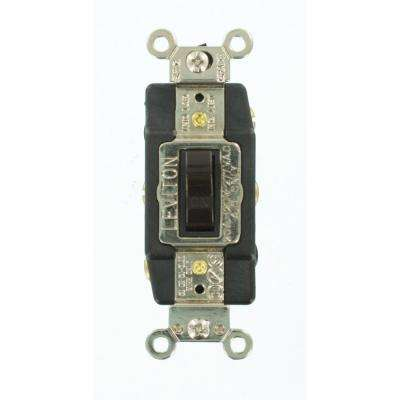 20 Amp Industrial Grade Heavy Duty Double-Pole Double-Throw Center-Off Maintained Contact Toggle Switch, Brown