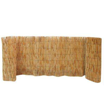 2 ft. H x 14 ft. L Reed Wood Fence Woven with Black Nylon Coated Wire