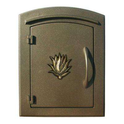 Bronze Non-Locking Column Wall Mount Mailbox