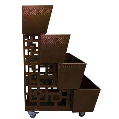47 in. 4-Tier Modern Metal Garden Planter