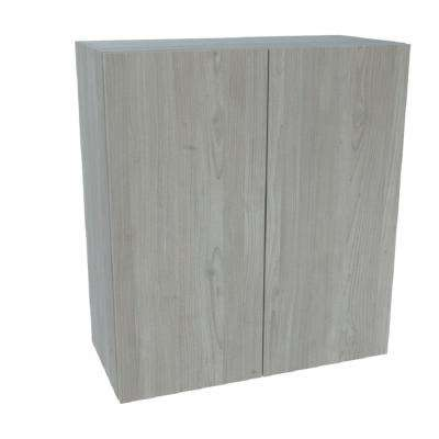 Ready to Assemble 27 in. x 42 in. x 12 in. Wall Cabinet in Grey Nordic Wood