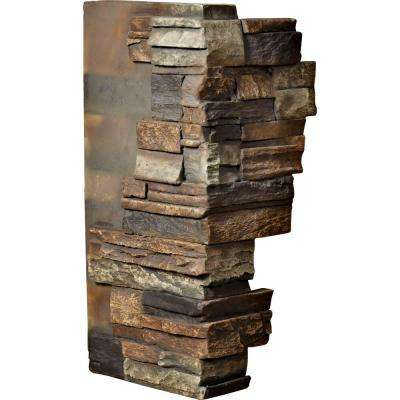 1-1/2 in. x 12 in. x 25 in. Redstone Urethane Dry Stack Stone Outer Corner Wall Panel
