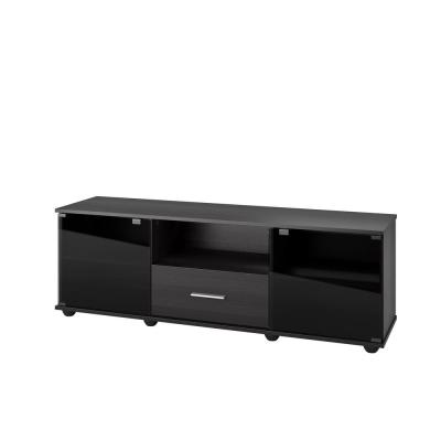 Fernbrook 60 in. Black Wood TV Stand with 1 Drawer Fits TVs Up to 70 in. with Storage Doors