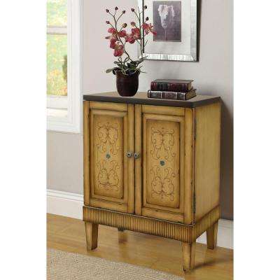 Hand painted Distressed Natural Accent Chest