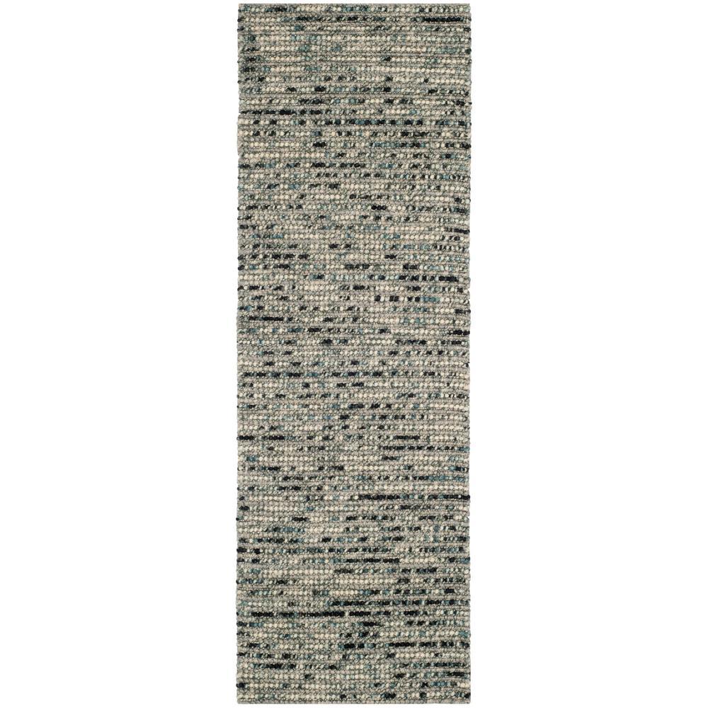 Bohemian Gray/Multi 3 ft. x 22 ft. Runner Rug