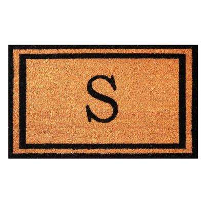 Customized Monogram Collection Letter S 18 in. x 30 in. Personalized Coir with Rubber Backing Outdoor Welcome Door Mat