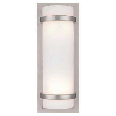 2-Light Brushed Nickel Sconce
