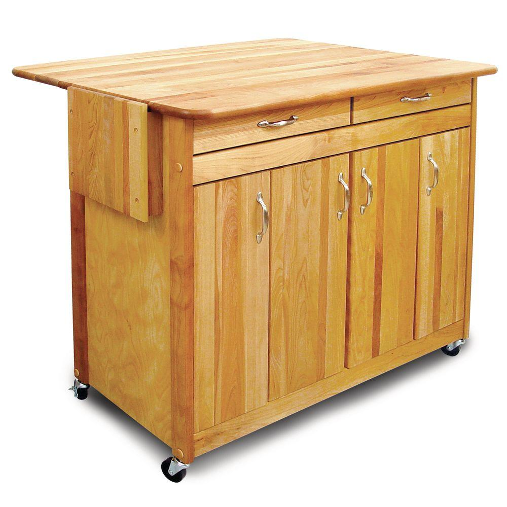 Catskill Craftsmen 44 in. Super Island with Flat Doors and Drop Leaf-DISCONTINUED