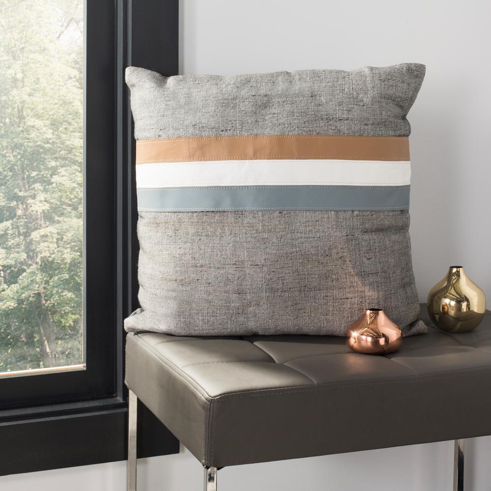 Safavieh Kent Cowhide Standard Pillow PLS237A-2020