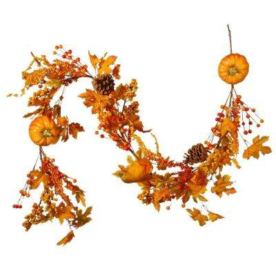 6 ft. Pumpkin Garland