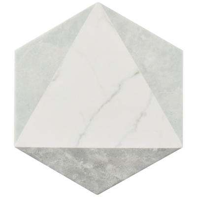 Classico Carrara Hexagon Peak 7 in. x 8 in. Porcelain Floor and Wall Tile (7.67 sq. ft. / case)