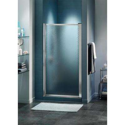 Atwater 32.75 in. x 64.5 in. Framed Pivot Shower Door in Chrome without Handle