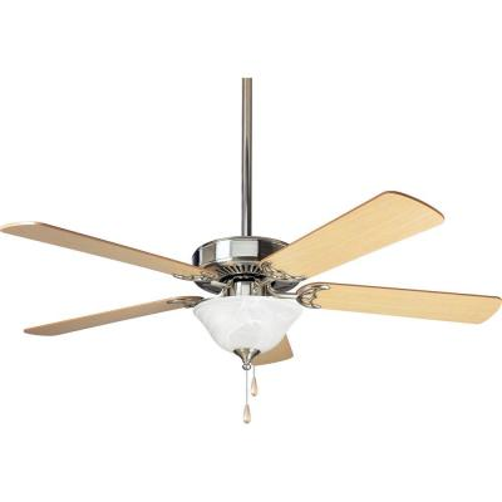 AirPro Builder 52 in. Indoor Brushed Nickel Modern Ceiling Fan