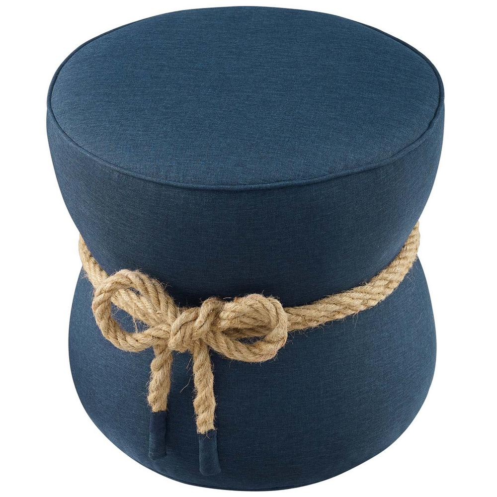 watch d0015 e0592 MODWAY Beat Blue Nautical Rope Upholstered Fabric Ottoman ...