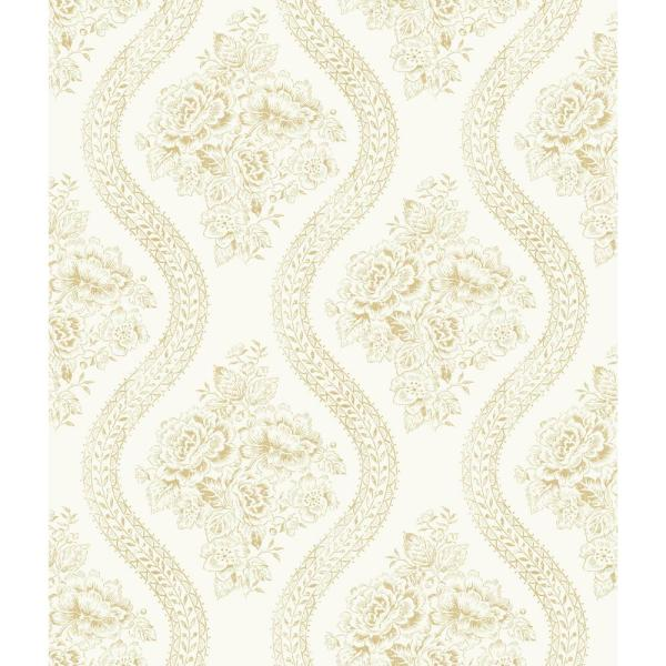 French Panel Paper Strippable Roll Wallpaper (Covers 56 sq. ft.)