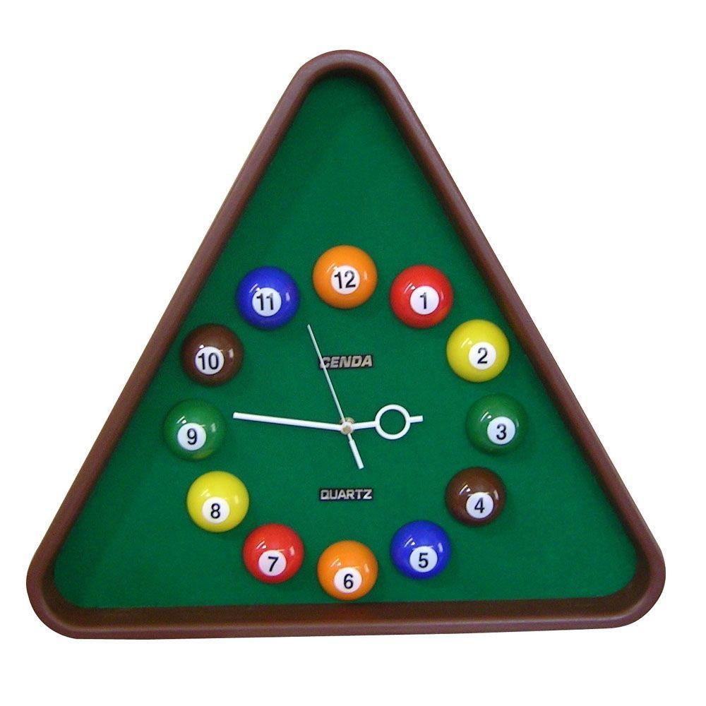 Pool Table Wall Clock