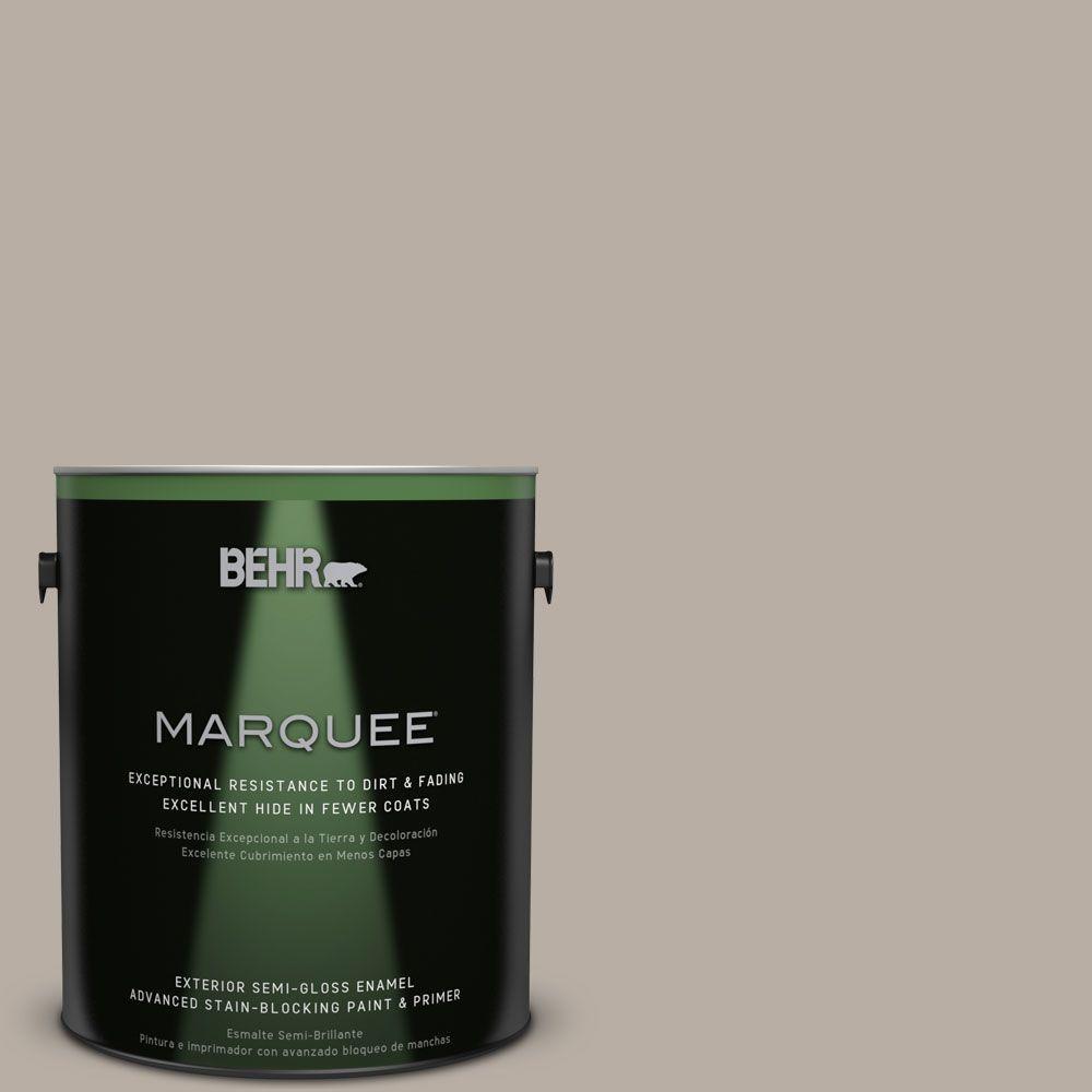 1-gal. #N200-3 Nightingale Gray Semi-Gloss Enamel Exterior Paint