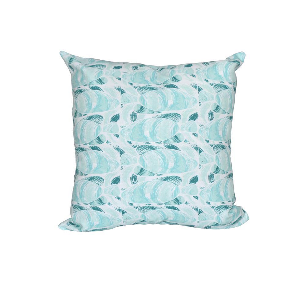 Teal Fishwich Animal Print Throw Pillow