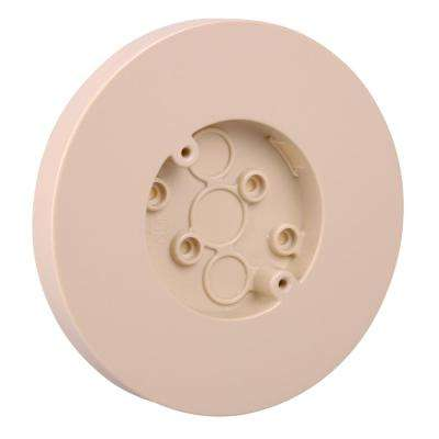 1-Gang 3.8 cu. in. Old Work Round Surface Outlet Electrical Box - Ivory (Case of 50)