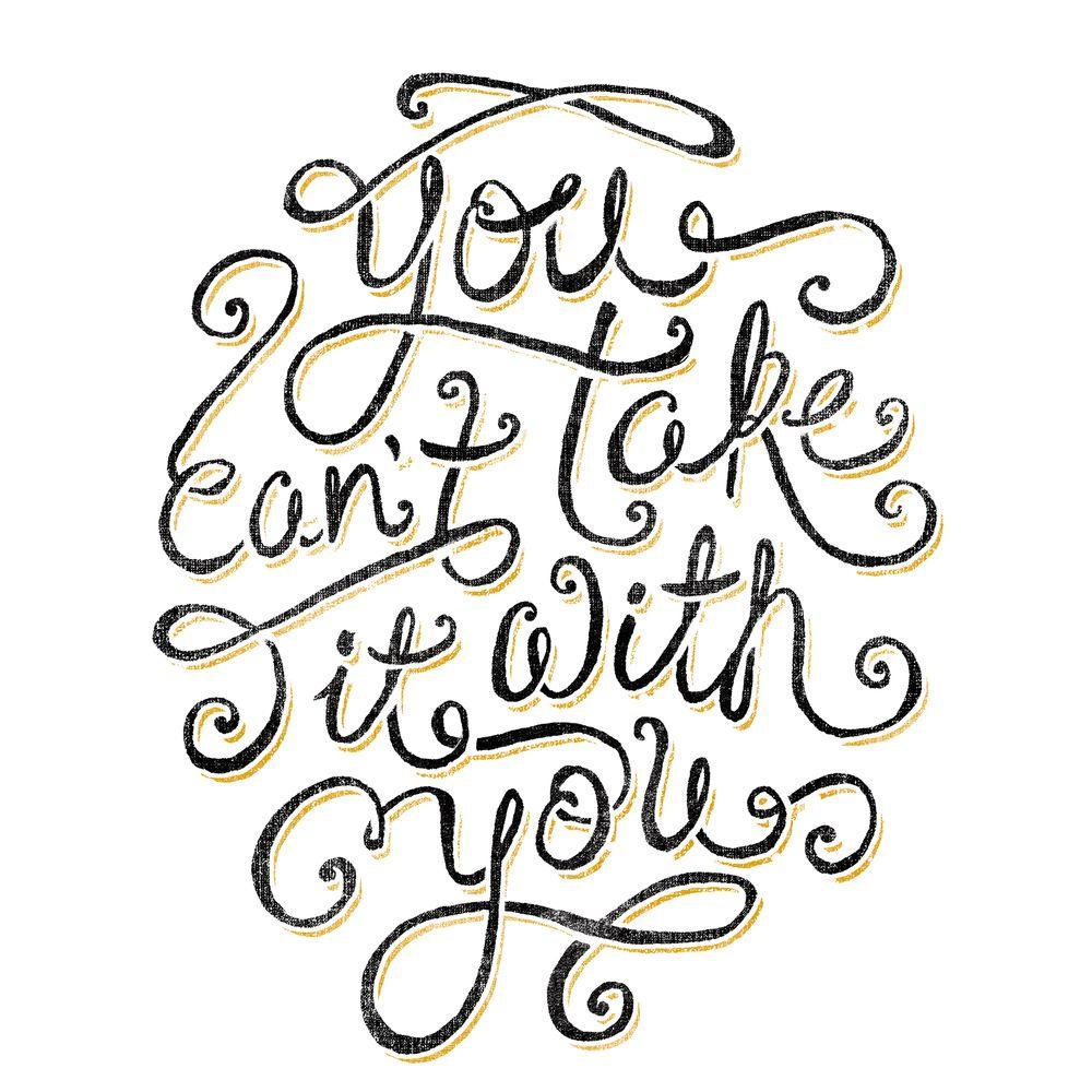 null 20 in. x 26 in. 55 Hi's - You Can't Take It With You 5-Piece Peel and Stick Giant Wall Decals