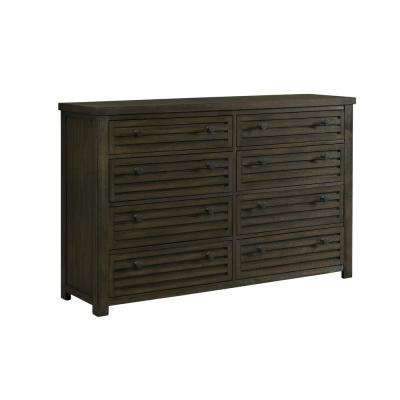 Montego 8-Drawer Dark Walnut Dresser