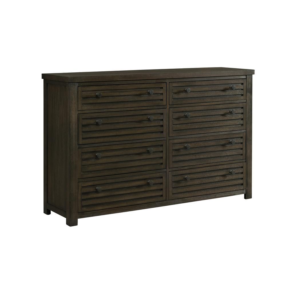Montego 8-Drawer Dark Walnut Dresser