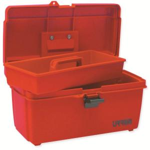 Urrea 14 In Plastic Red Tool Box With Metal Clasps 9900