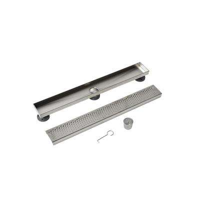 24 in. Stainless Steel Linear Drain Wave Grate