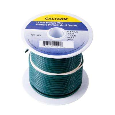 100 ft. 14 AWG Primary Wire Spool, Green (Case of 5)