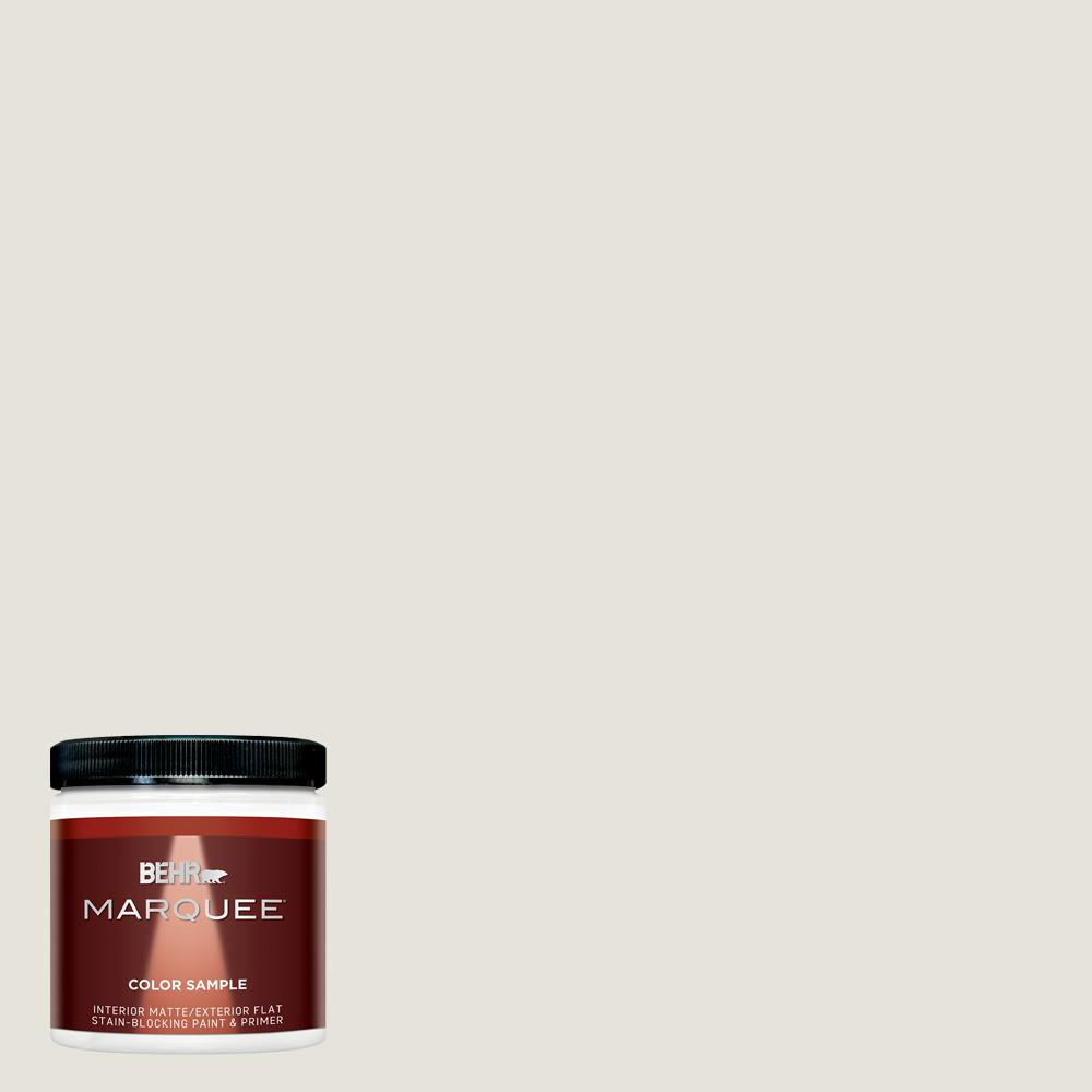 BEHR MARQUEE 8 oz. Ultra-Pure White Matte Interior/Exterior Paint and Primer in One Sample