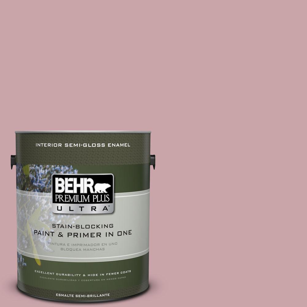 1 gal. #HDC-CT-08A Hydrangea Bouquet Semi-Gloss Enamel Interior Paint