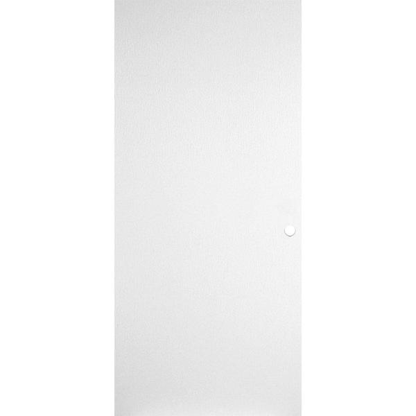 36 in. x 80 in. Primed Smooth Flush Hardboard Hollow Core Composite Interior Door Slab with Bore