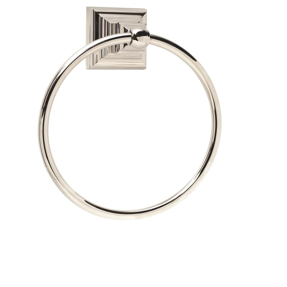 Markham Towel Ring in Polished Nickel