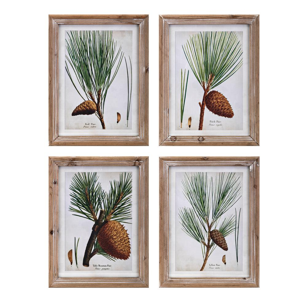 Evergreen Botanical Wall Decor (Set of 4)