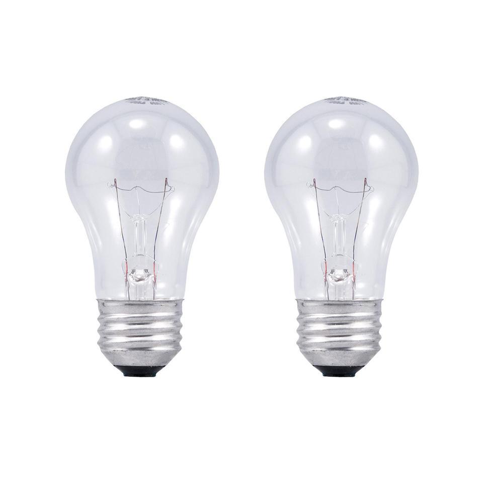 Sylvania 40-Watt Double Life A15 Incandescent Light Bulb (2-Pack)