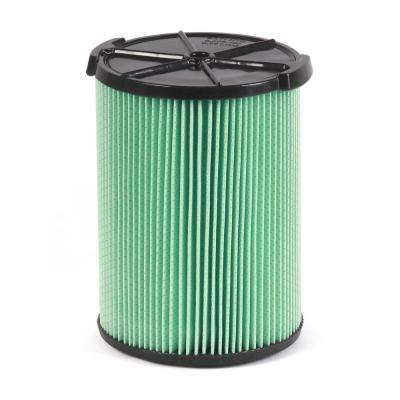 5-Layer HEPA Material Pleated Paper Filter for Most 5 Gal. and Larger RIDGID Wet/Dry Shop Vacuums (3-Pack)