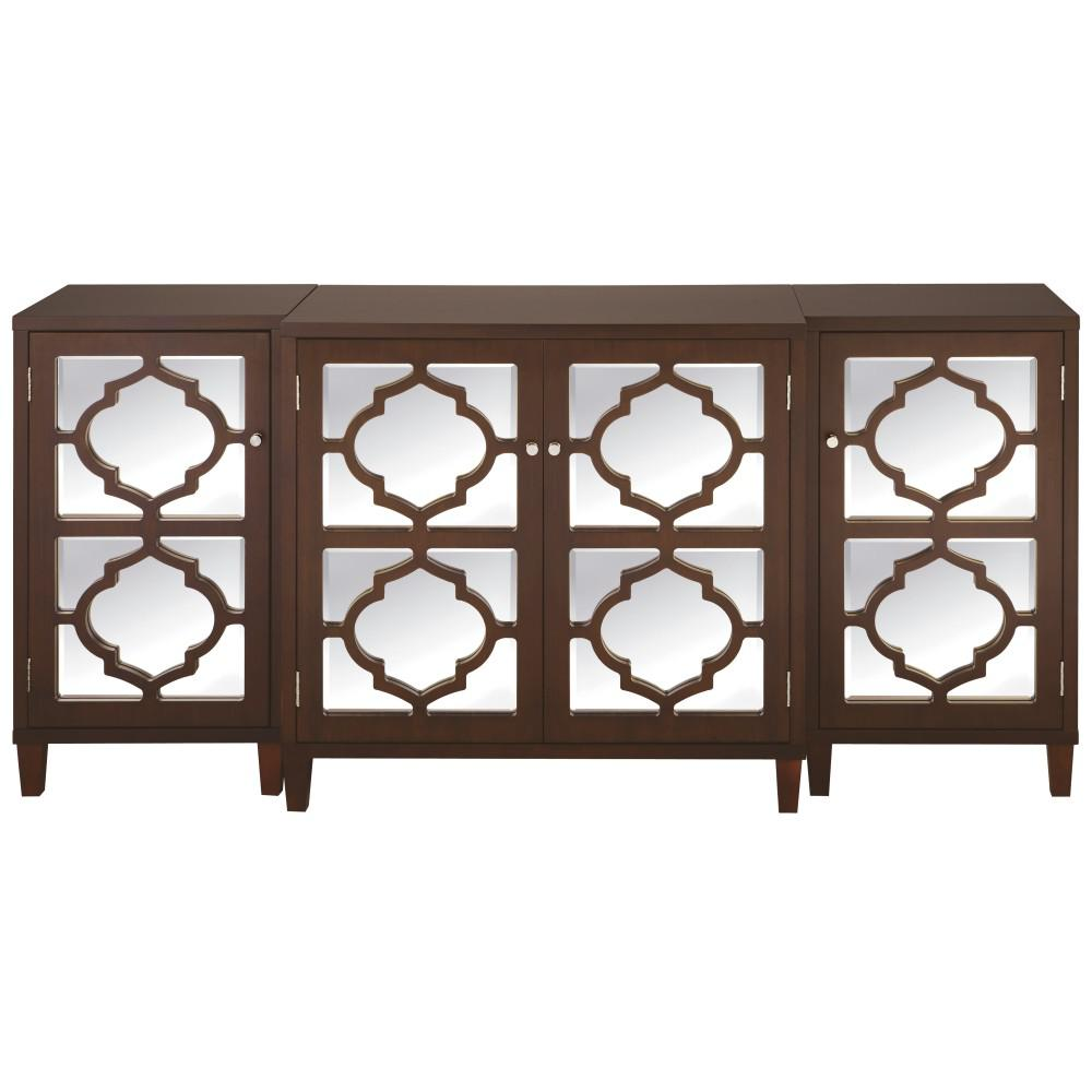 Reflections Espresso Console Table