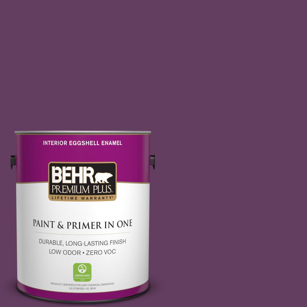 BEHR Premium Plus 1-gal. #680D-7 Bunchberry Zero VOC Eggshell Enamel Interior Paint