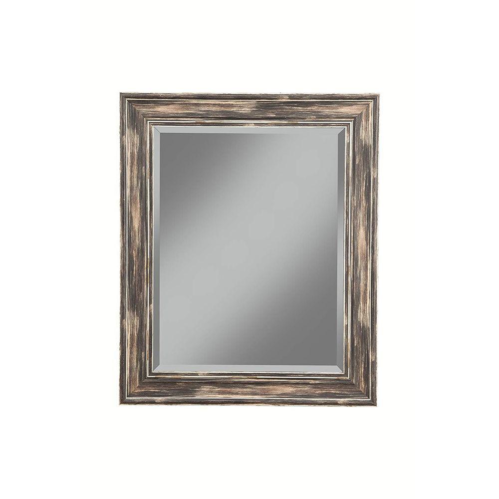 Medium Rectangle Black Modern Mirror (30 in. H x 2 in. W)