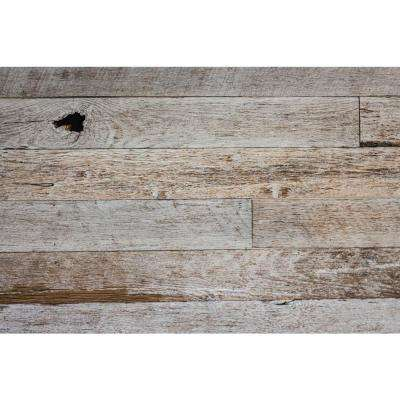 3/8 in. x Varying Widths x Varying Lengths Kentucky Racehorse White Washed Reclaimed Wallboards (10 sq. ft./Case)