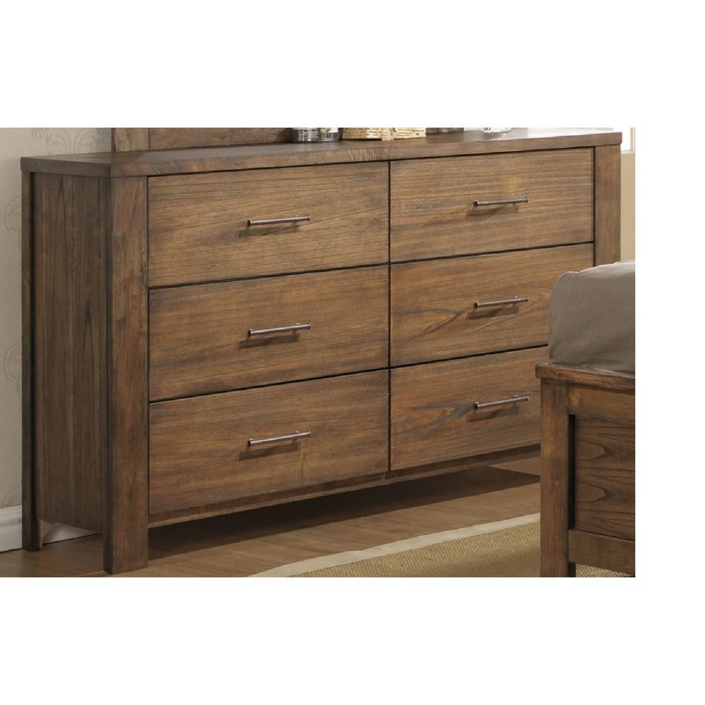 Progressive Furniture Brayden 6-Drawer Satin Mindi Dresser