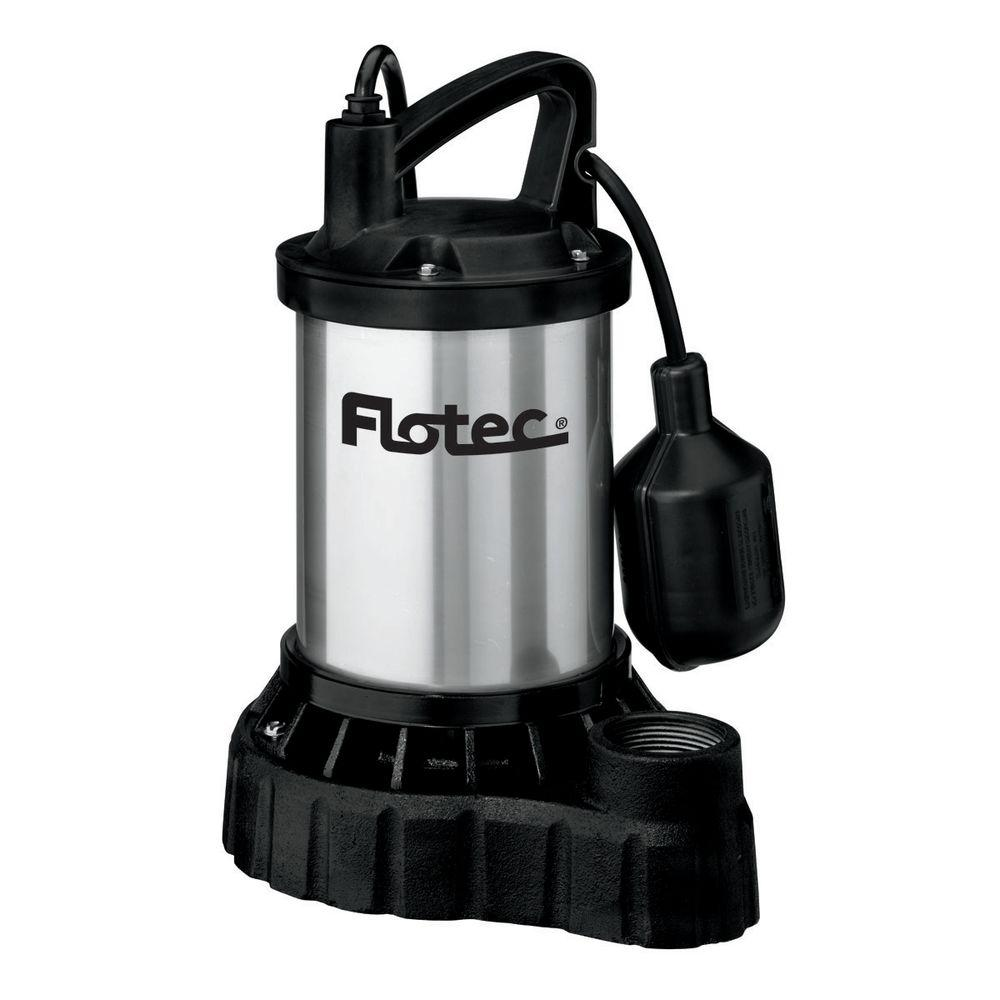 Flotec 1/3 HP Submersible Cast Iron/Stainless Steel Automatic Sump Pump