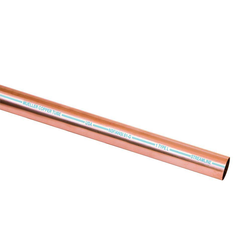 Mueller Streamline 1 in  x 5 ft  Copper Type L Pipe