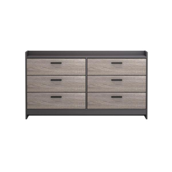 Homestar Central Park 6-Drawer Java Brown/Sonoma Dresser EB208752JS