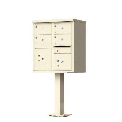 1570 Series 4-Large Mailboxes, 1-Outgoing, 2-Parcel Lockers, Vital Cluster Box Unit