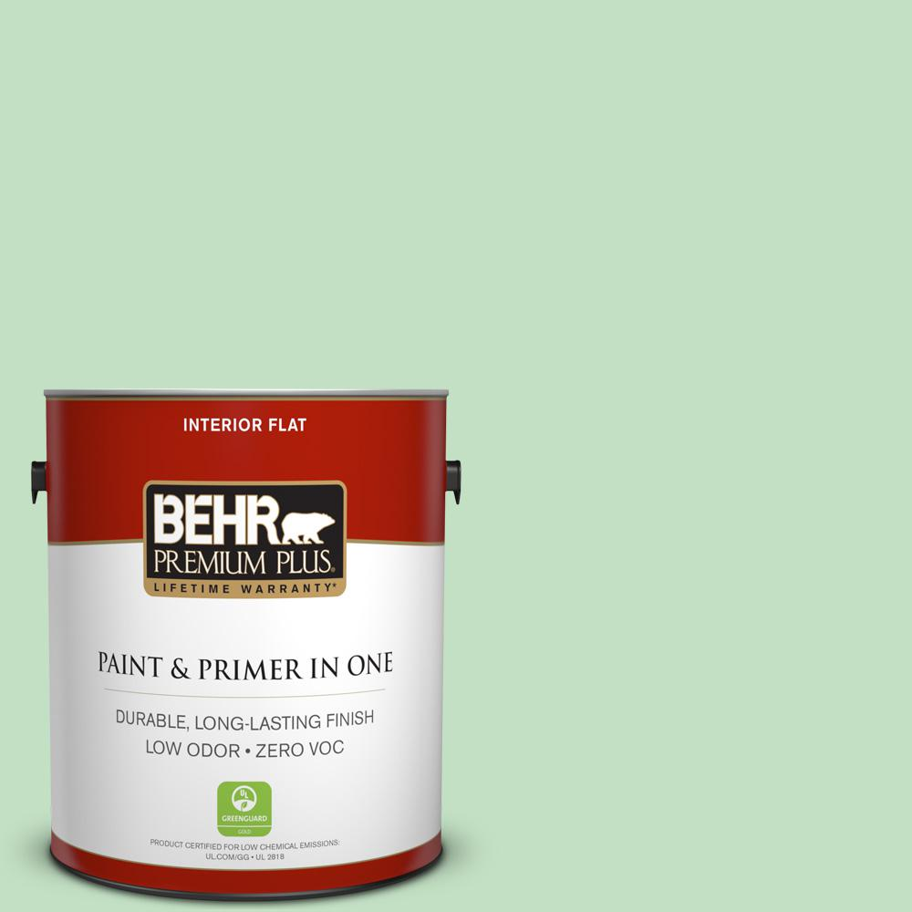 1-gal. #450C-3 Green Myth Zero VOC Flat Interior Paint