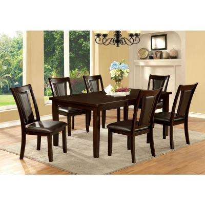 Emmons I Dark Cherry and Espresso Transitional Style Dining Table