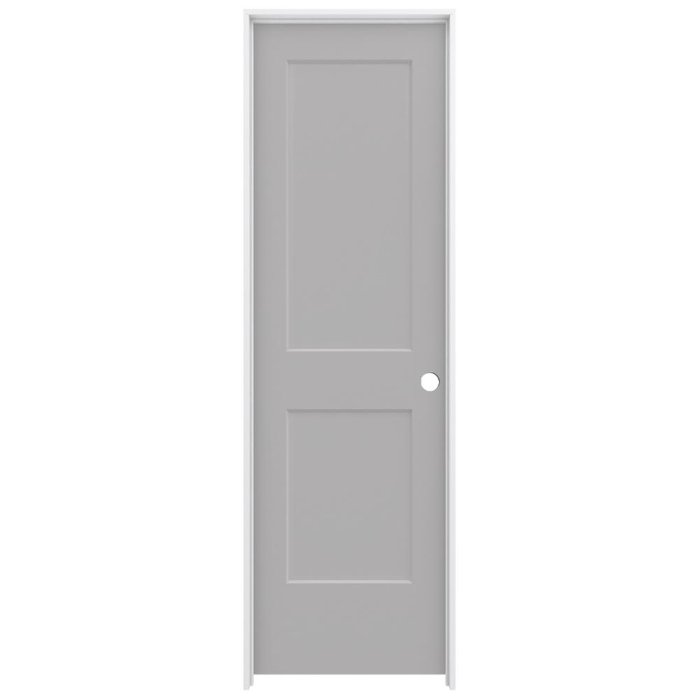 Jeld wen 24 in x 80 in monroe driftwood painted left for Solid core mdf interior doors
